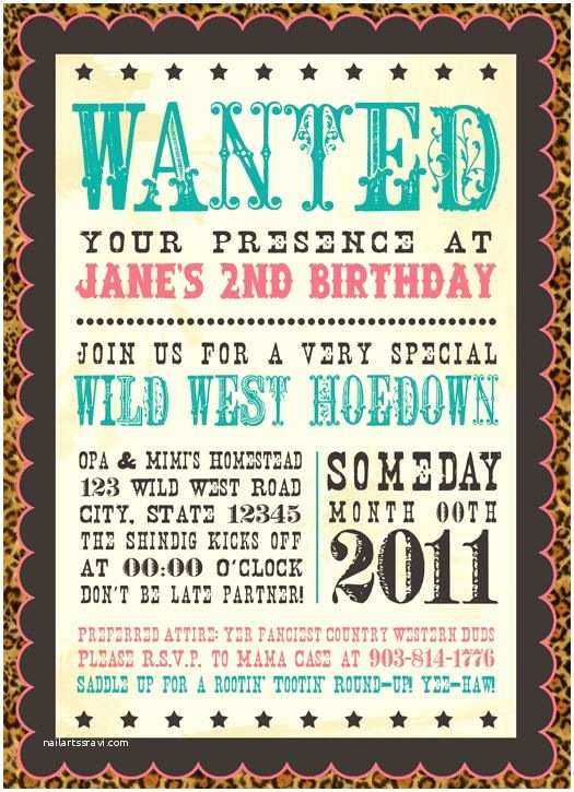 Western Birthday Invitations Allison D Mct Winklepleck these are so Cute Western