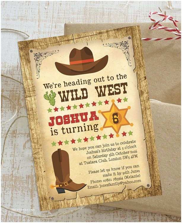 Western Birthday Invitations Best 25 Cowboy Party Invitations Ideas On Pinterest
