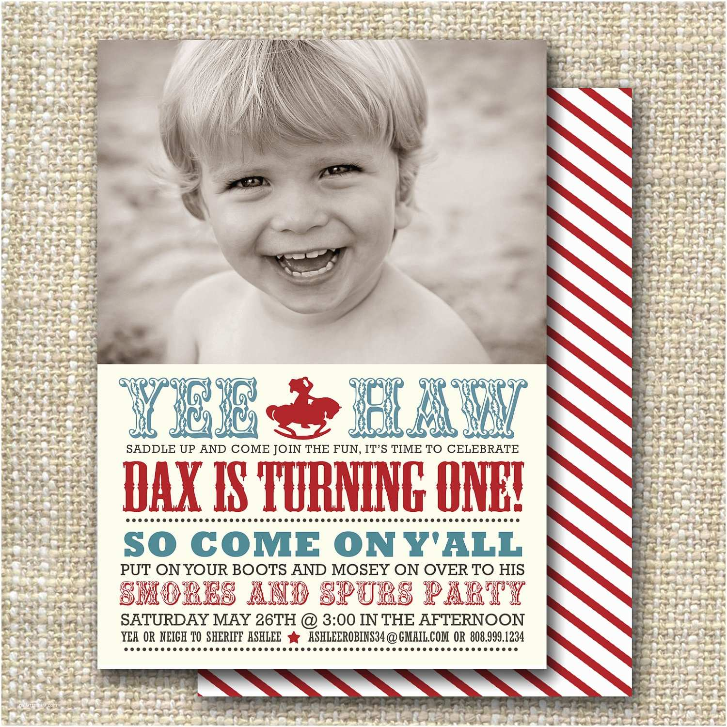 Western Birthday Invitations Cowboy Birthday Party Invitation Western Birthday Party