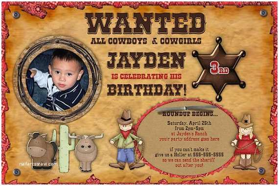 Western Birthday Invitations Items Similar to Western Cowboy or Cowgirl Wanted Birthday