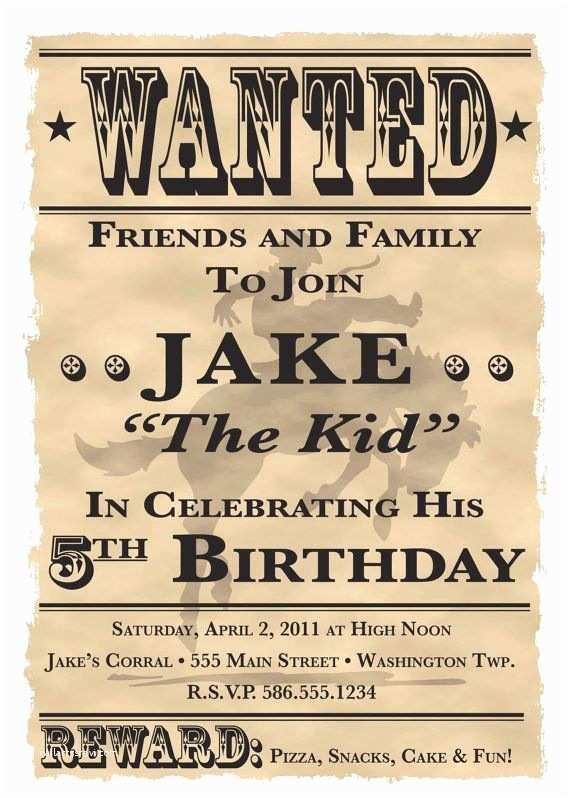 Birthday Invitations Western Bbq