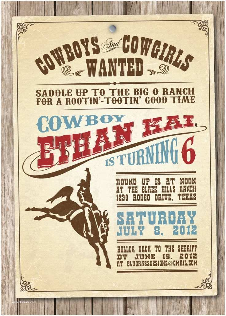 Western Party Invitations 1000 Ideas About Cowboy Party Invitations On Pinterest