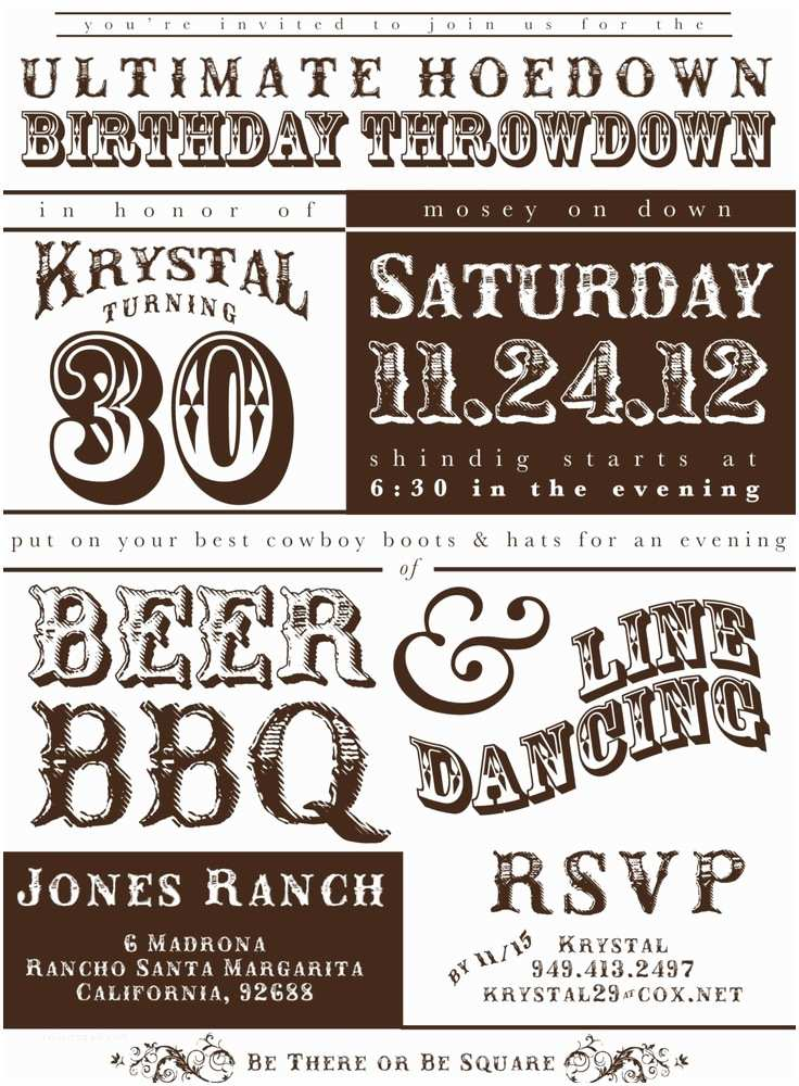 Western Party Invitations 8 Best Of Western Adult Birthday Invitations