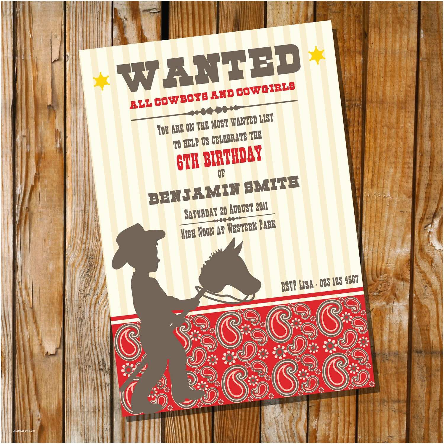 Western Party Invitations Little Cowboy Birthday Party Invitation Ly Instantly