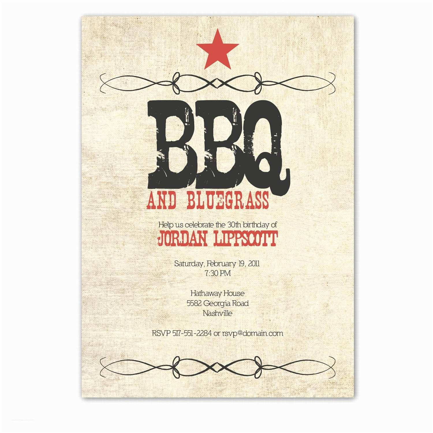Western Party Invitations Western Birthday Party Invitation Western Bbq Party