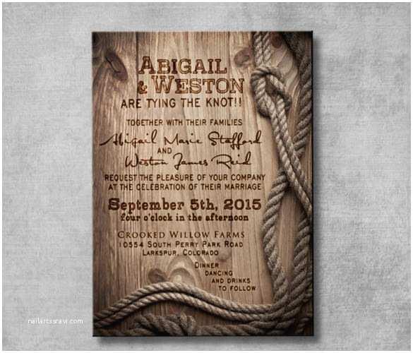 Western Wedding Invitations 30 Western Wedding Invitation Templates – Free Sample