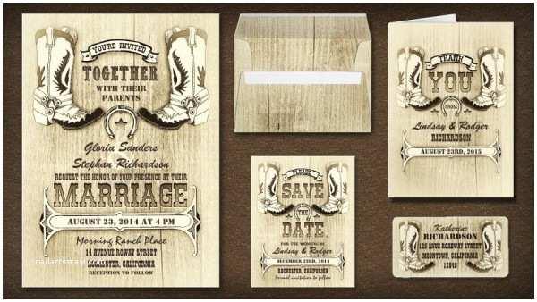 Western Wedding Invitations Cowboy Boots Western Wedding Invitations