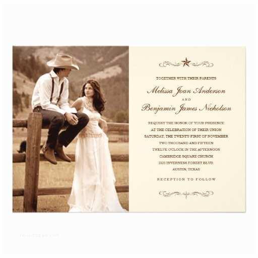 Western Wedding Invitations Vintage Western Wedding Invitations