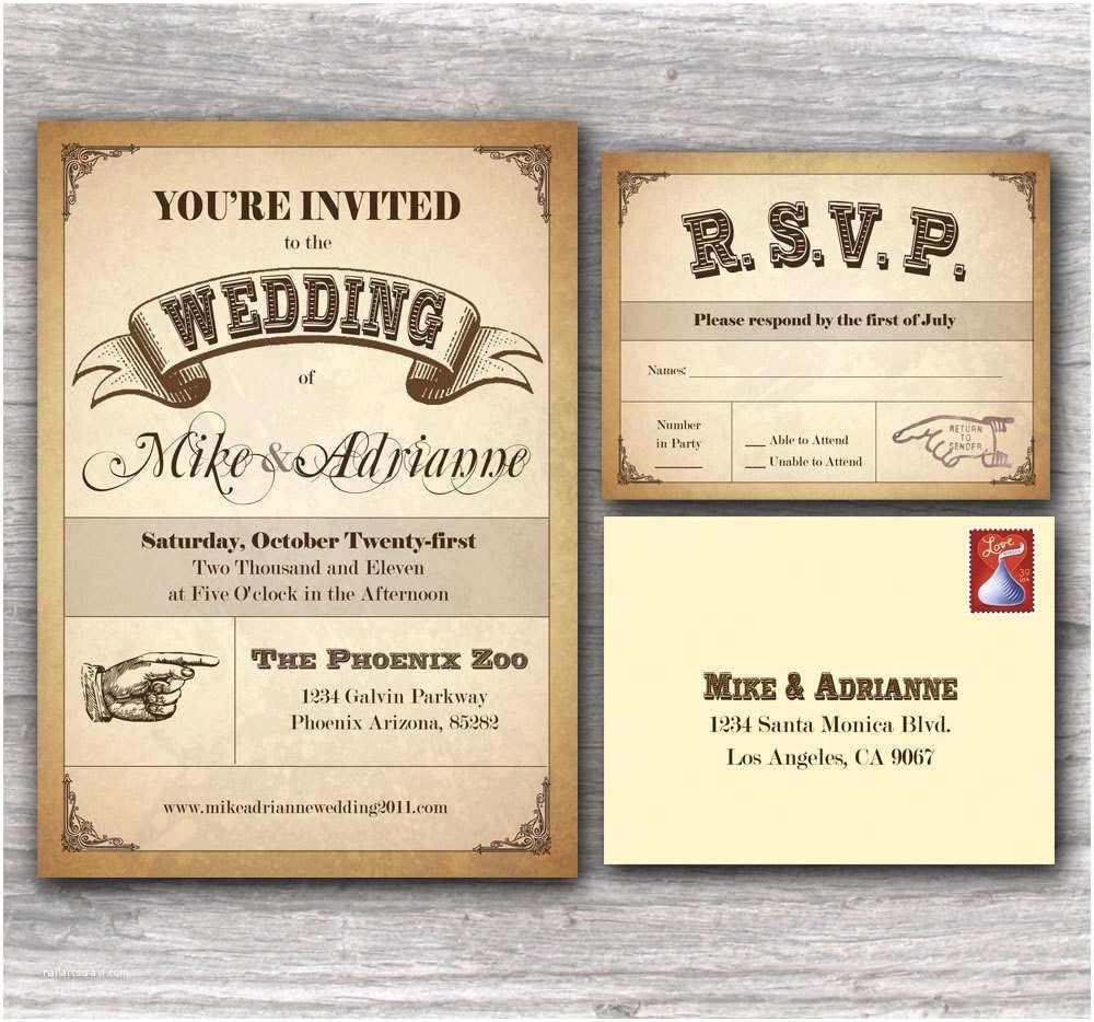 Western Wedding Invitations Western Wedding Ideas for Decorating