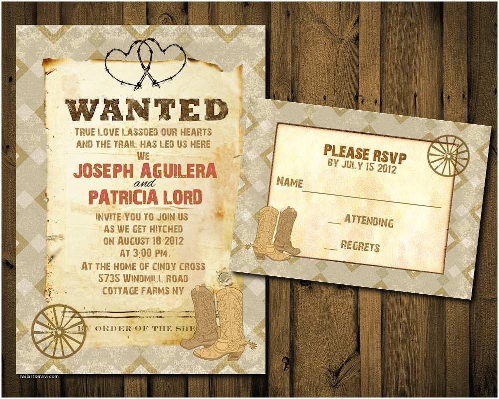 Western Wedding Invitations Western Wedding Invitation Templates Cloudinvitation