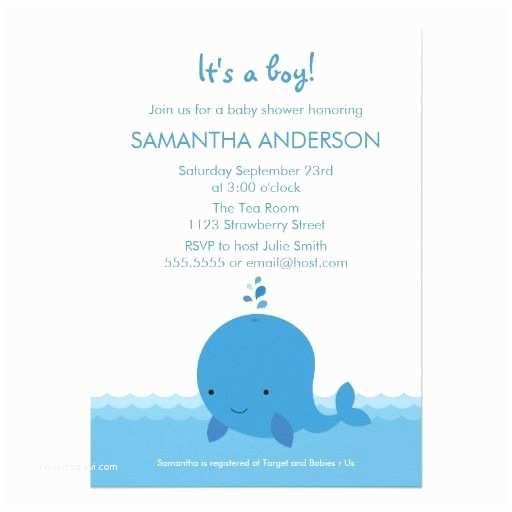 Whale Baby Shower Invitations Modern Whale Baby Shower Invitation Boy