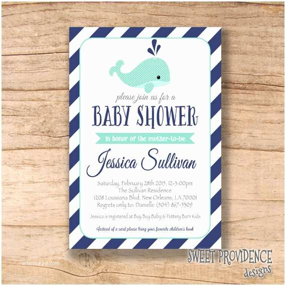 Whale Baby Shower Invitations Nautical Whale Baby Shower Invitation Whale Invitation Navy