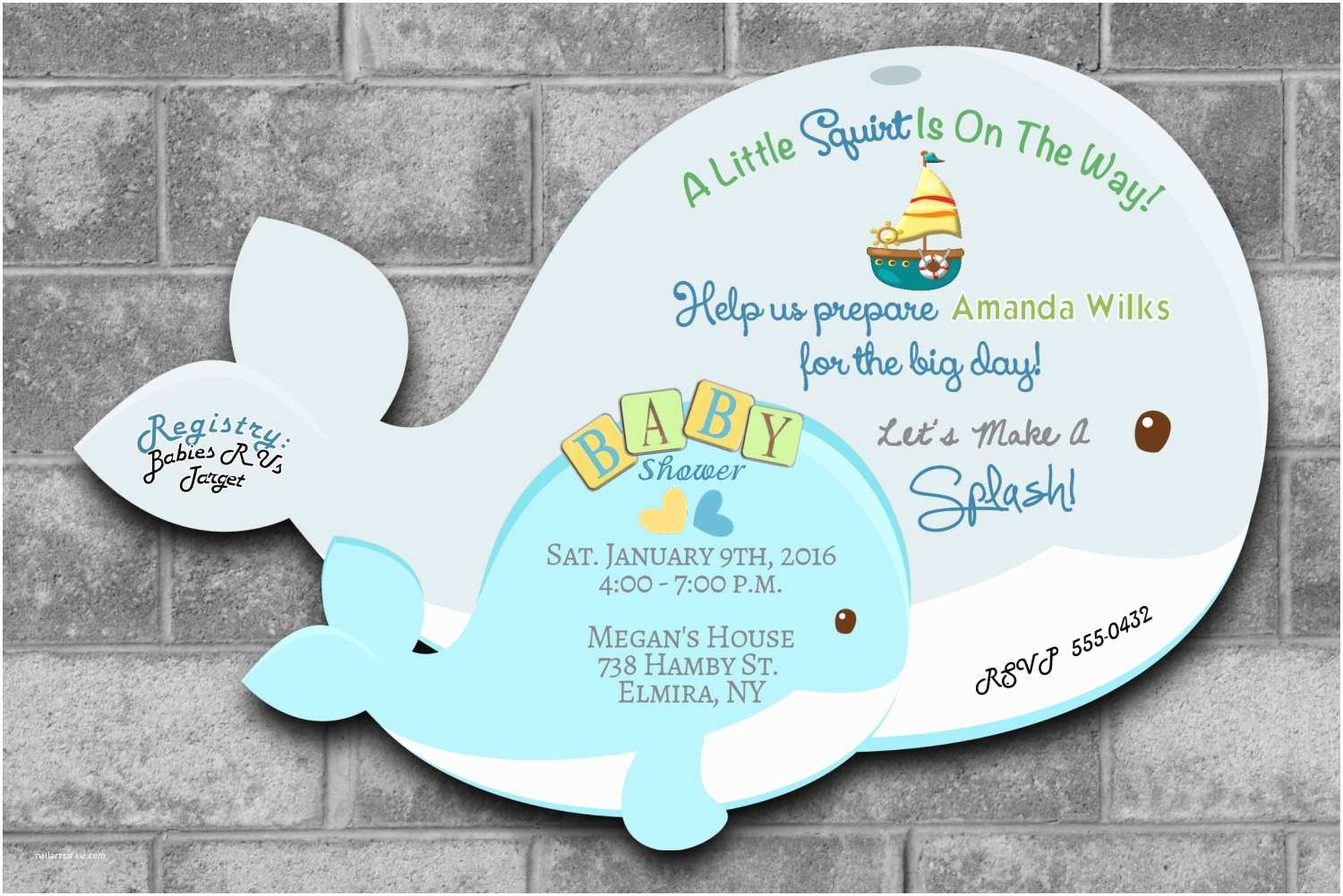 Whale Baby Shower Invitations Whale Baby Shower Invitations Nautical Baby Shower Invitations