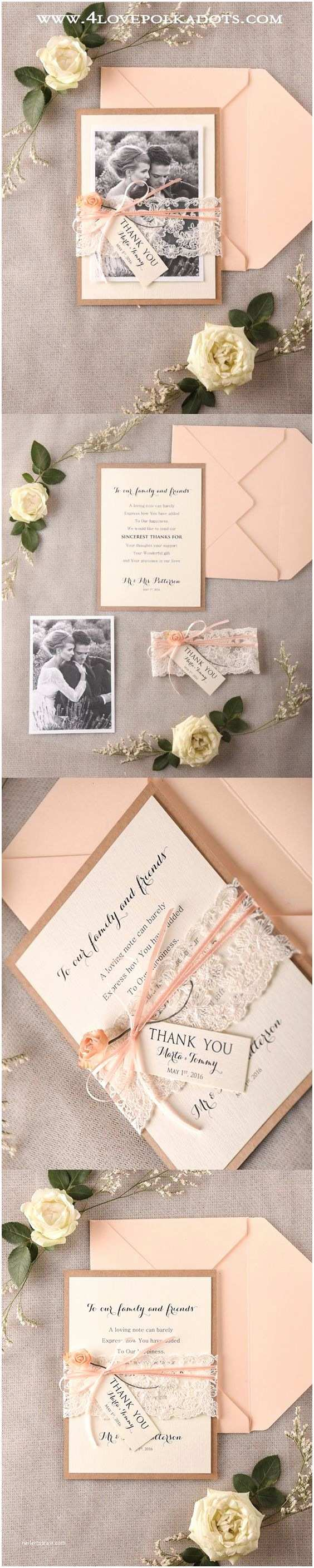 What Do You Say On A Wedding Invitation Say Thank You Peach Wedding Thank You Cards