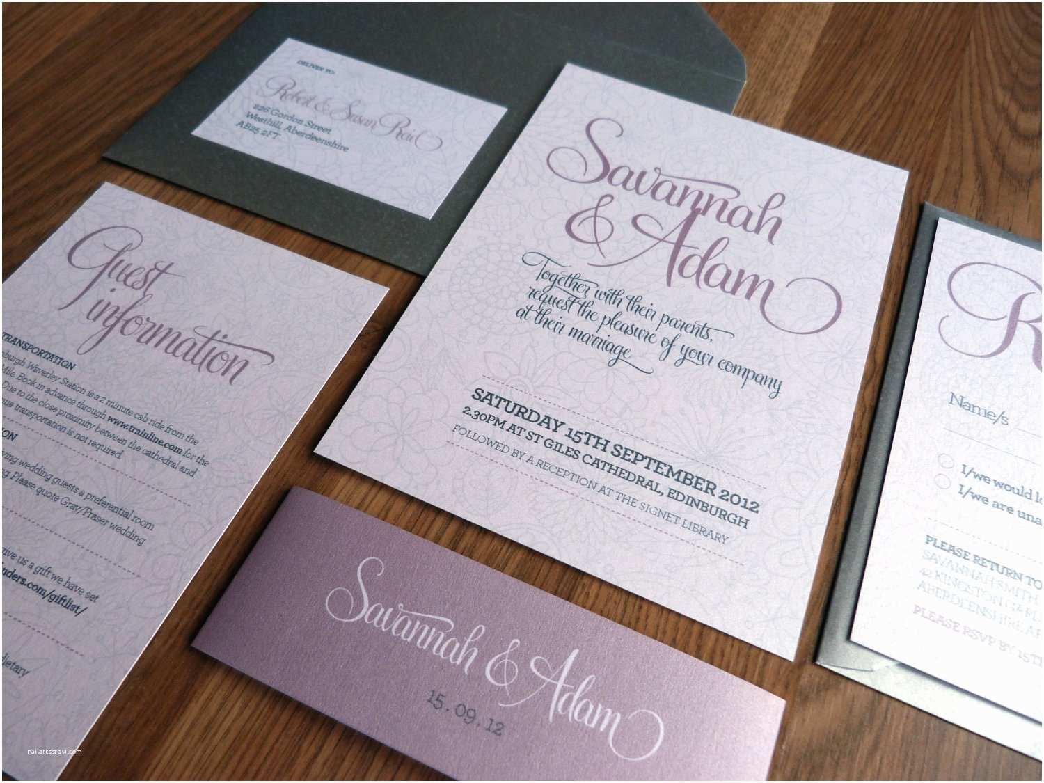 What is Included In A Wedding Invitation Suite Wedding Invitation Suite Bliss Wedding Range On Luulla