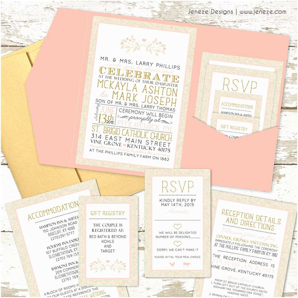 What Name Goes First On Wedding Invitations What to Put In Your Pocket Wedding Invitations