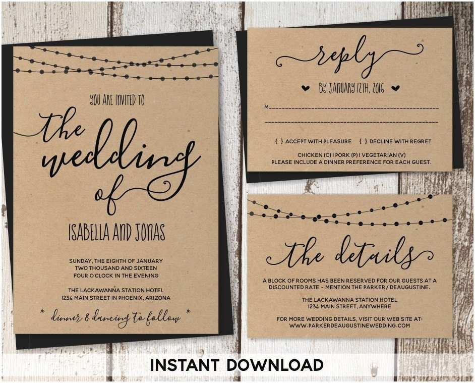 What Paper to Use for Wedding Invitations Kraft Paper Wedding Invitations Template Resume Builder