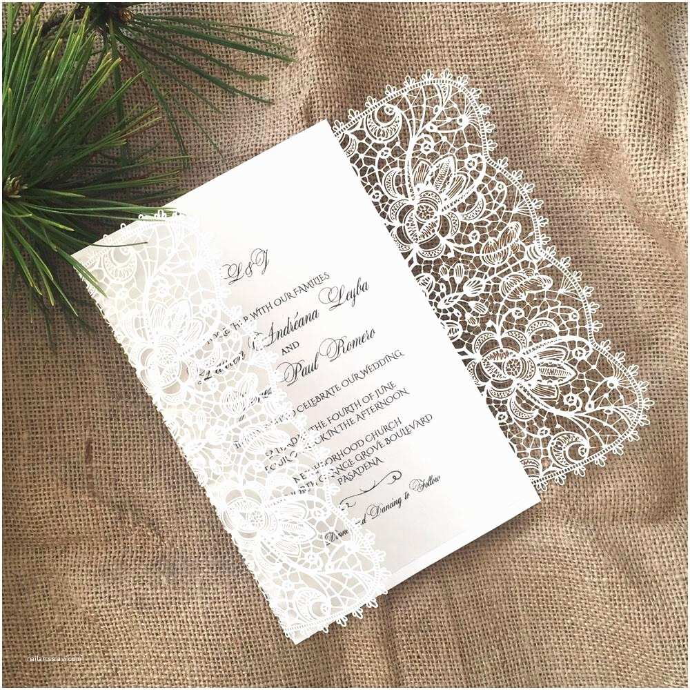 What Paper to Use for Wedding Invitations Laser Cut Wedding Invitation Bohemian Lace Gatefold A9