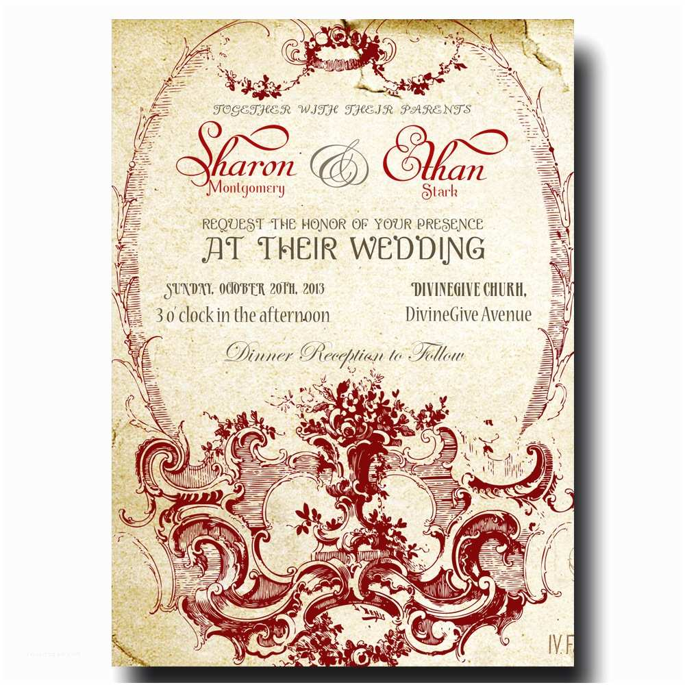 What Paper to Use for Wedding Invitations Printable Wedding Invitations by Divine Charm Digital