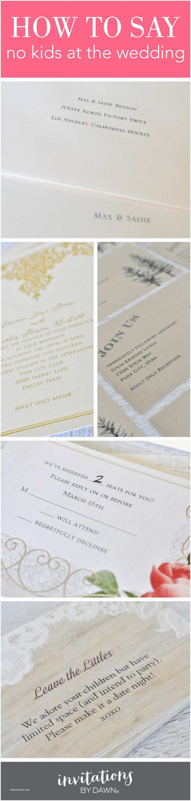 What Should A Wedding Invitation Say to Say No Kids at the Weddi and Sunflower Wedding