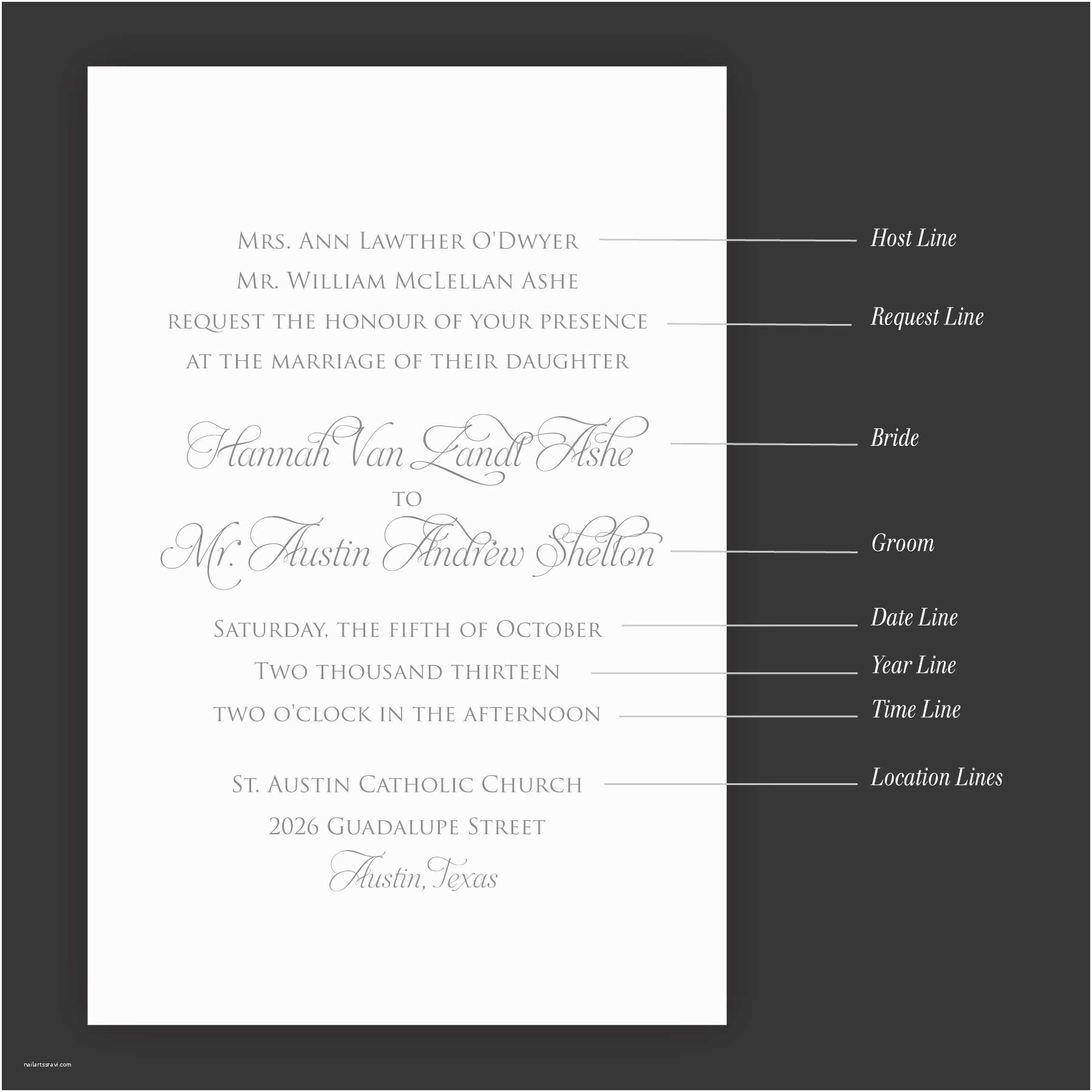 What Should A Wedding Invitation Say What to Say Wedding Invitations