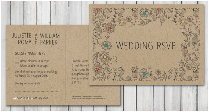 What Size are Rsvp Cards for Wedding Invitations Natural Wedding Stationery
