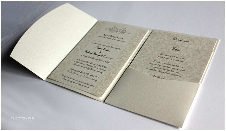 What Size are Wedding Invitation Envelopes Pocketfold Invitations Wedding Invites