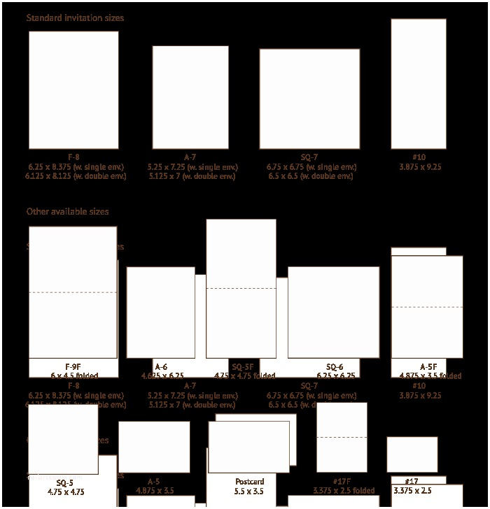 What Size are Wedding Invitations Invitation Sizes Also On This Page Envelope Styles Sizes