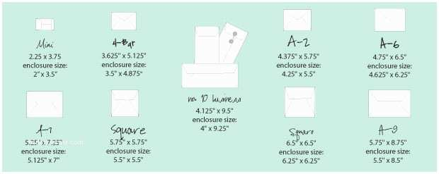 What Size are Wedding Invitations Standard Greeting Card Envelope Size