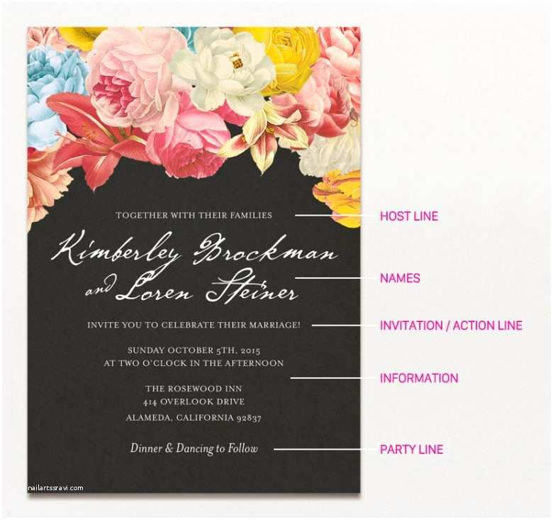 What to Include In Wedding Invitation 15 Examples Of Wedding Invitation Wording You Can Steal