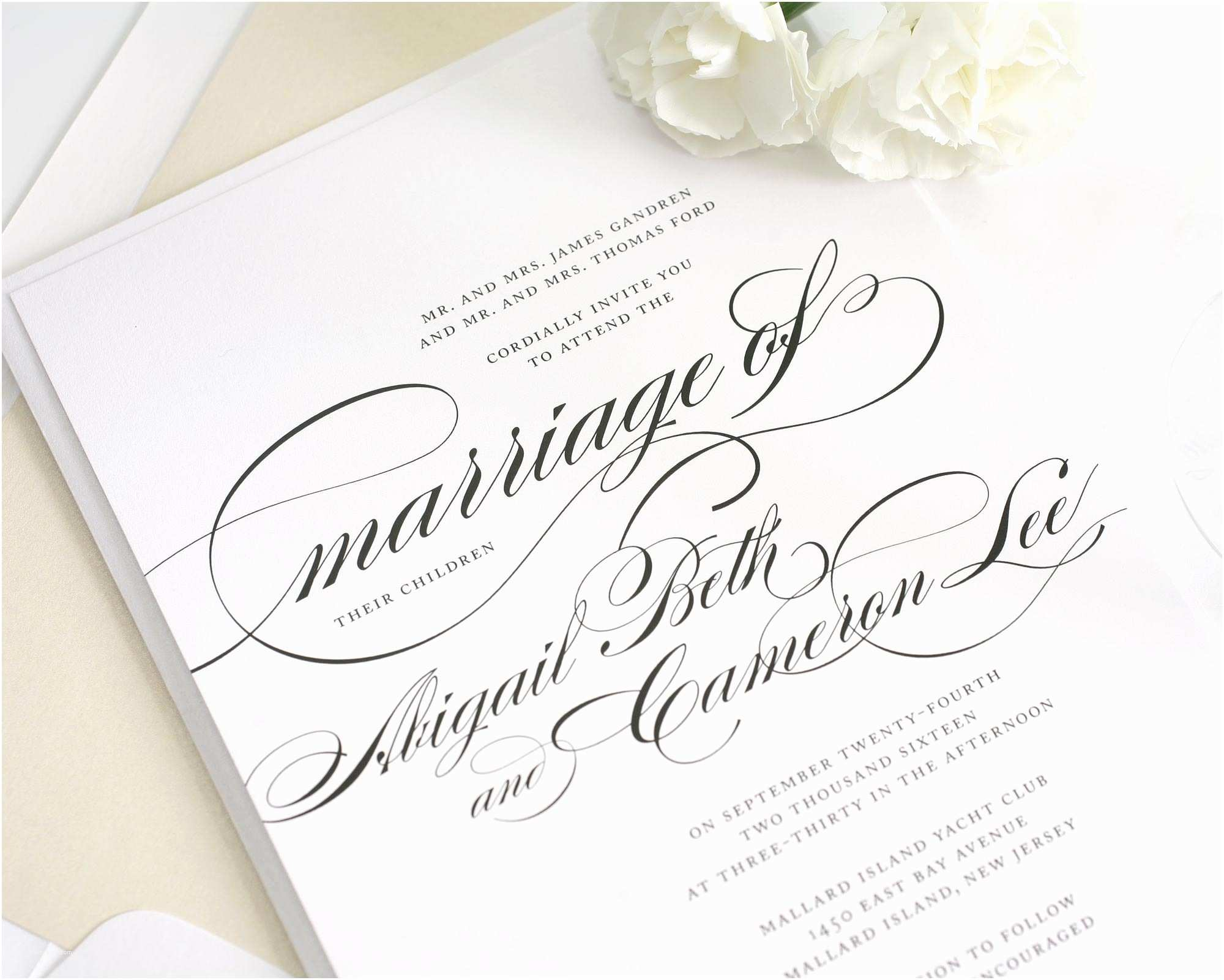 What to Include In Wedding Invitation Beautiful Wedding Invitation In Black and White with