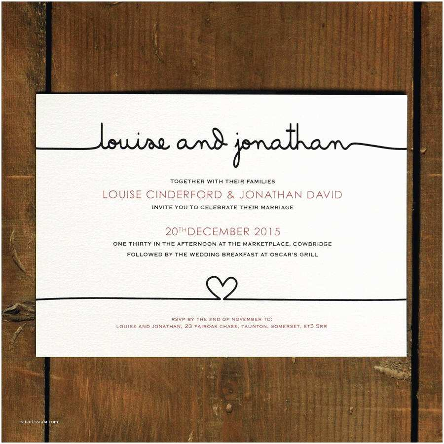 What to Include In Wedding Invitation Scribble Wedding Invitation and Save the Date by Feel Good