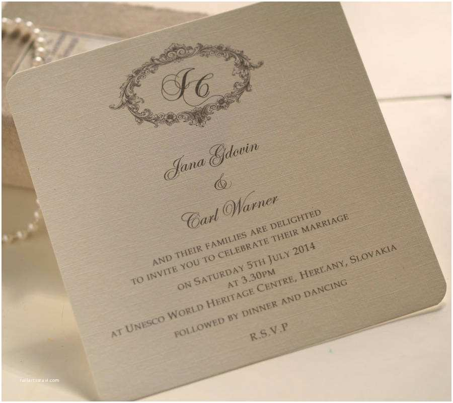What to Include In Wedding Invitation Victorian Personalised Wedding Invitations by Beautiful