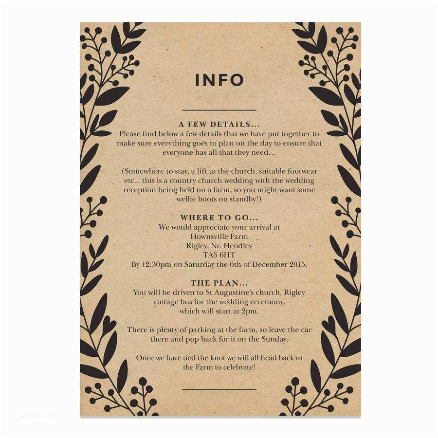 What To Put On Wedding Invitations Bold Wreath Wedding Invite By Old English