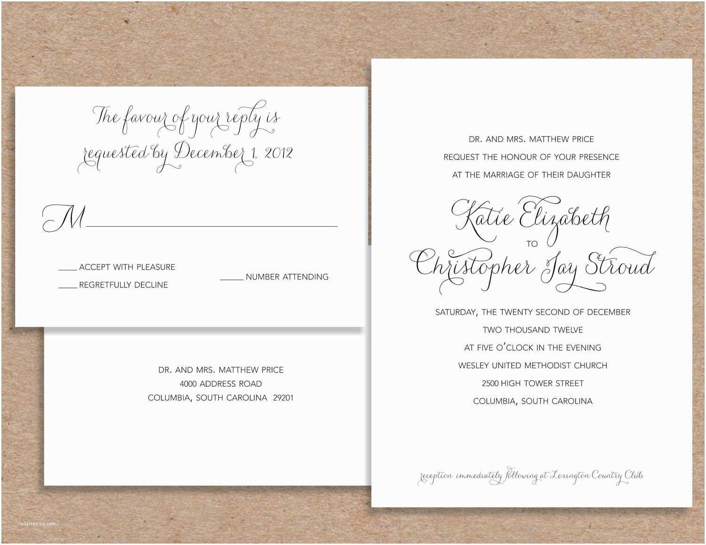 What To Put On Wedding Invitations Formal Wedding Invitation