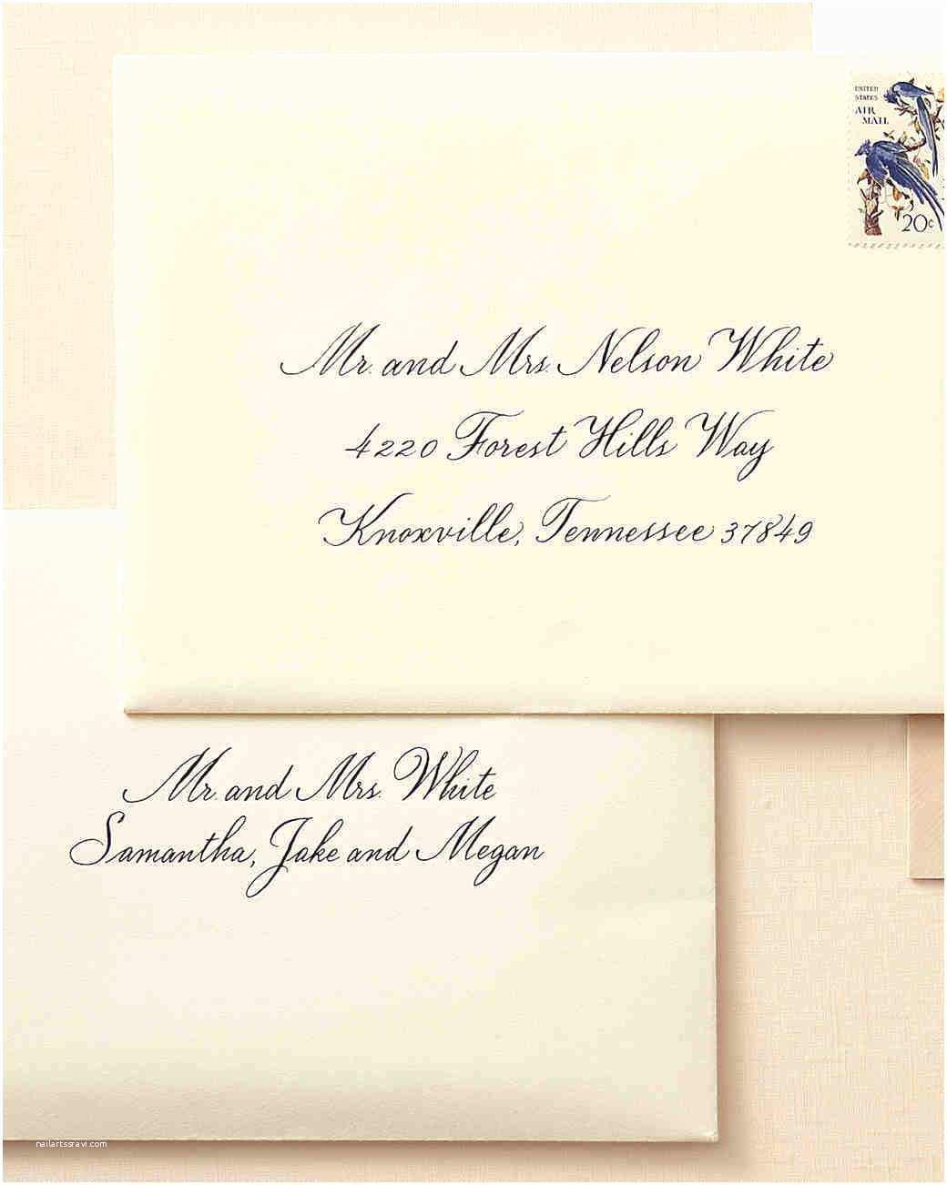 What to Put On Wedding Invitations How to Address Guests On Wedding Invitation Envelopes