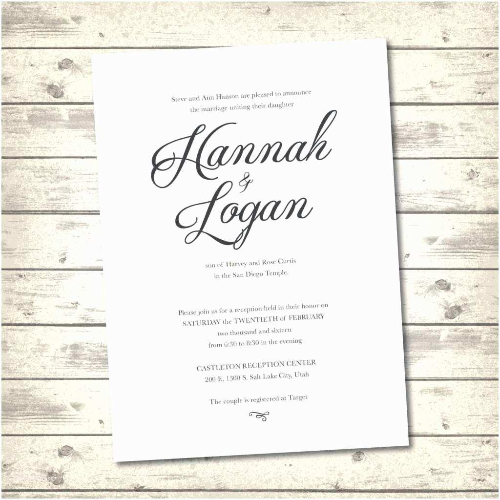 What To Put On Wedding Invitations Traditional Wedding Invitation