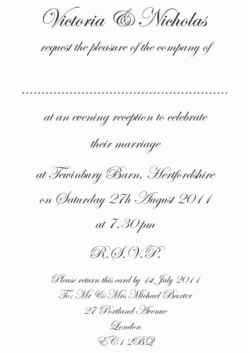 What to Write On Wedding Invitations formal Wedding Invitation Templates