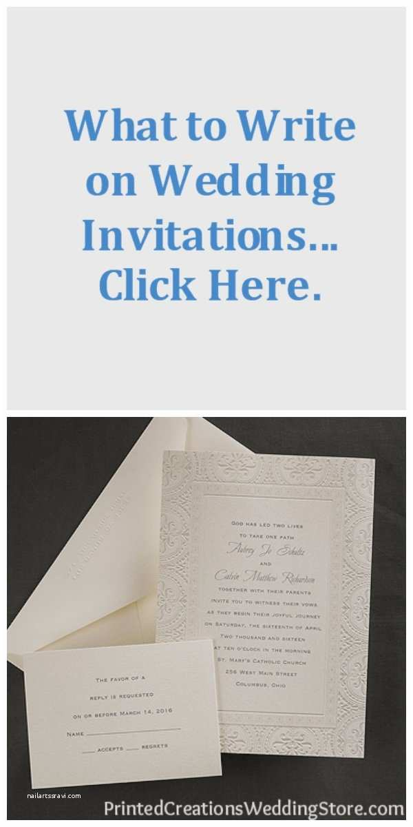What to Write On Wedding Invitations Pin by Printed Creations Wedding Store Wedding