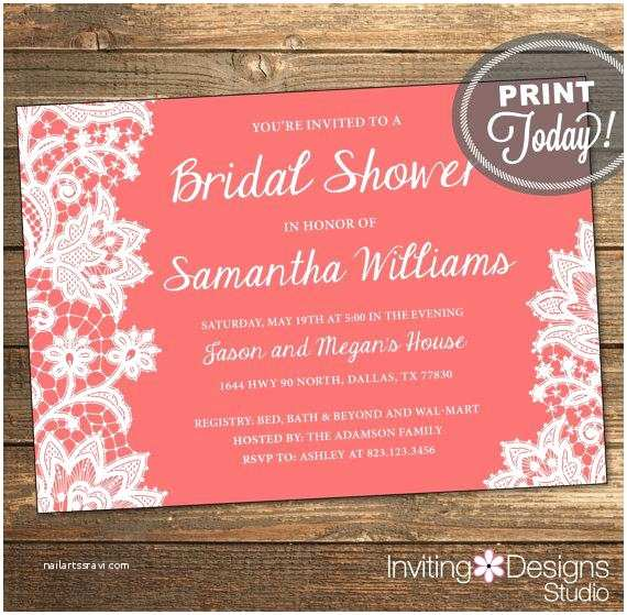 When to order Wedding Invitations Lace Bridal Shower Invitation Wedding Shower Invitation