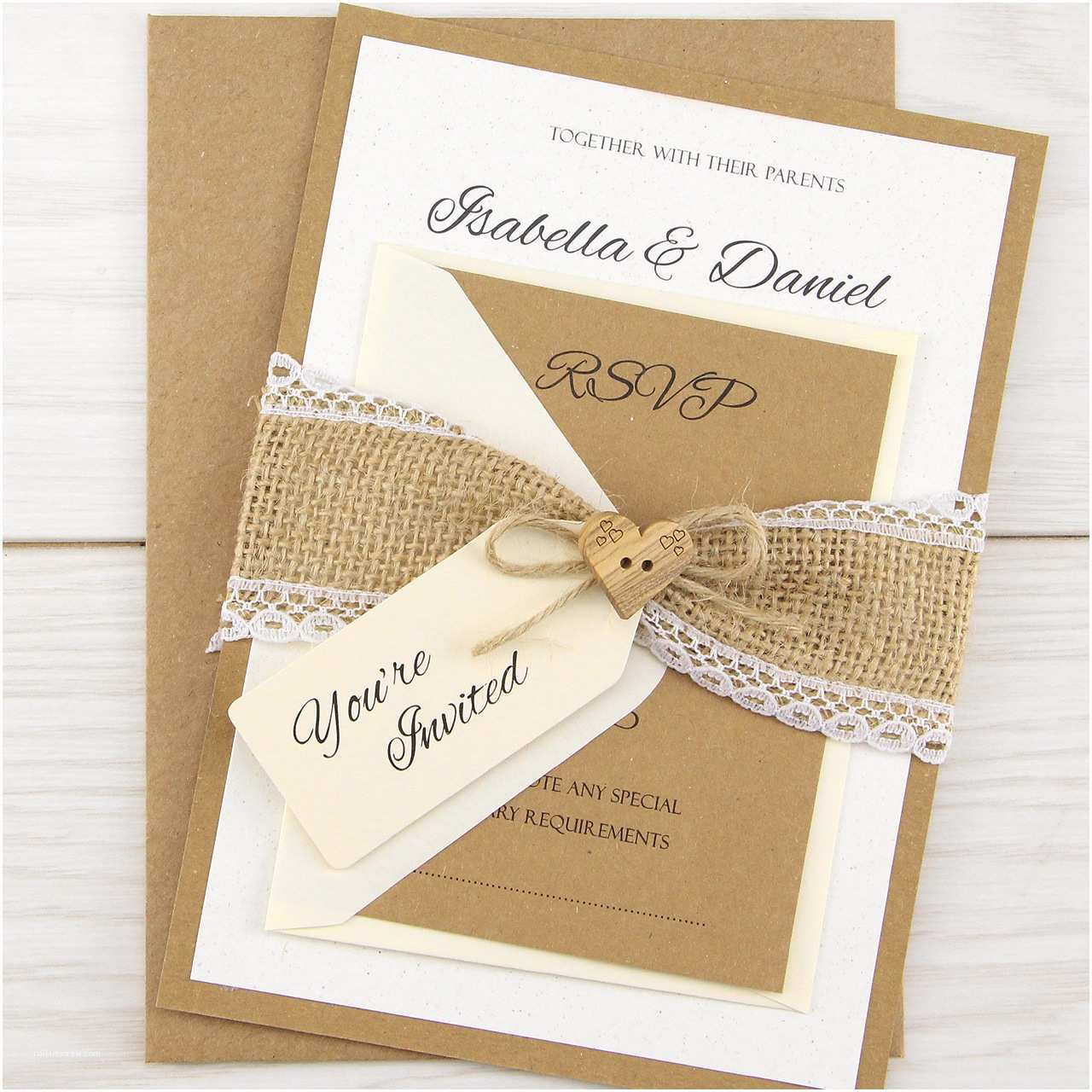 Where to Get Wedding Invitations Dakota Parcel