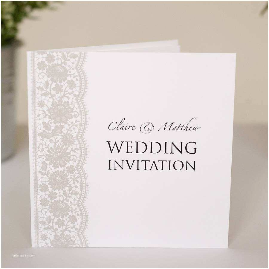 Where to Get Wedding Invitations Personalised Lace Wedding Invitations by Twenty Seven