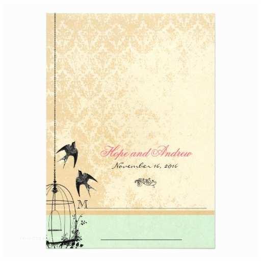 Whimsical Wedding Invitations Whimsical Vintage Bird Cage Wedding Invitations