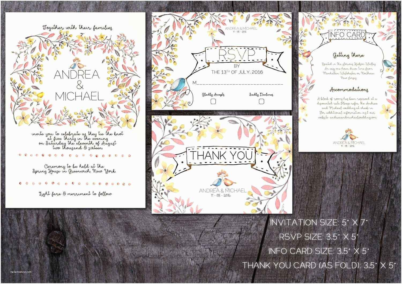 Whimsical Wedding Invitations Whimsical Wedding Invitation Printable Wedding Invitation