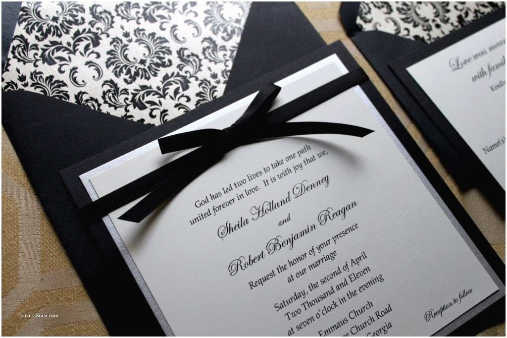 White and Gold Wedding Invitations Black White Gold Wedding Invitations Elegant Bridal