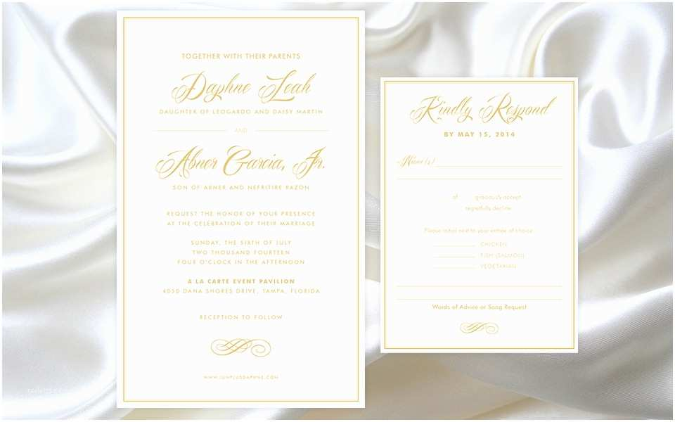 White and Gold Wedding Invitations Elegant White and Gold Wedding Invitations Matik for