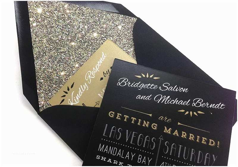 White and Gold Wedding Invitations Glamorous Gold Black and White Wedding Invitations