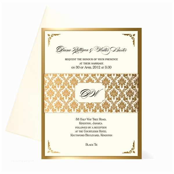 White and Gold Wedding Invitations White and Gold Wedding Invitations Damask Uk Weddingsoon