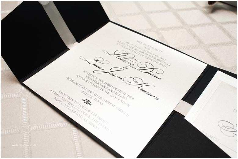 White and Silver Wedding Invitations 1 Black & White Wedding Invitation Significant events Of