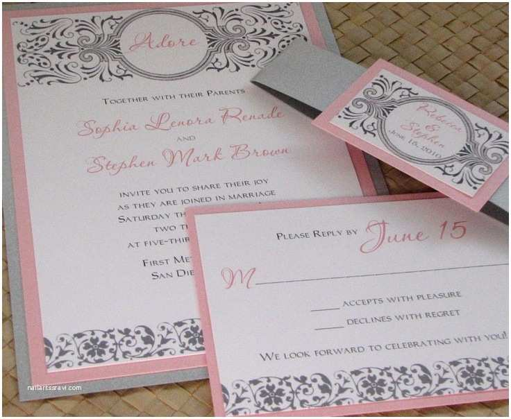 White And Silver Wedding Invitations Best 25 Pink Silver Weddings Ideas On